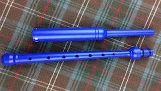 蓝色练习灯由 R.G.Hardie 在苏格兰制造 - 常规长度(包括簧片)