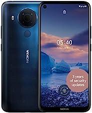 Nokia 诺基亚 5.4 6.39 英寸 Android UK SIM 免费智能手机,带 4 GB RAM 和 64 GB 存储(双 SIM 卡)- Polar Night