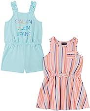 Calvin Klein 女童 2 件套连衣裙和连衫裤