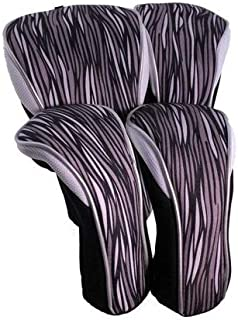 Taboo Fashions 4 件装设计师高尔夫球杆套头罩套装