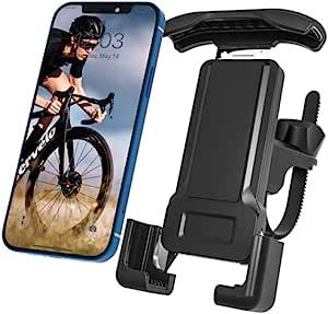 自行车手机支架自行车手机支架自行车手机支架摩托车手机支架适用于运动公路自行车车把通用 360 可调节支架适用于 iPhone 12 11 xr Pro Max 所有手机