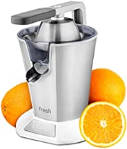 Ufesa EX4960 Fresh 电动柑橘榨汁机 不锈钢杠杆臂 600 W 连续倾倒 防滴漏功能 不锈钢过滤器