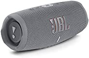 JBL Charge 5 灰色蓝牙音箱 - 防水便携式音箱,内置移动电源和立体声功能 - 充电电池可无线音乐享受