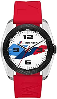 BMW M Motorsport 男士不锈钢石英手表,钢、硅胶或尼龙表带
