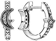 Pandora 潘多拉 月抛 & 星星耳环,纯银,立方氧化锆,29915