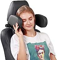 汽车座椅头枕枕,可调节汽车座椅头部支撑颈枕,*泡沫汽车旅行*枕垫适用于儿童、成人、老年人和乘客 - 黑色