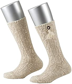 Lusana 男孩及膝袜儿童袜子带纽扣 Horschhorschhornoptik 和流苏