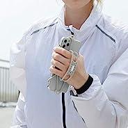 Bone Run 系带手持跑步臂带健身房跑步慢跑锻炼臂带保护套,适用于 iPhone 12、11、X、XS、8、7、6、6s、iPod、Samsung Galaxy S9、S8、S7、S6、S5 臂臂带(灰色)