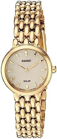 "Seiko 女士""女士禮服""石英不銹鋼休閑手表,顏色:金色調(型號:SUP352)"