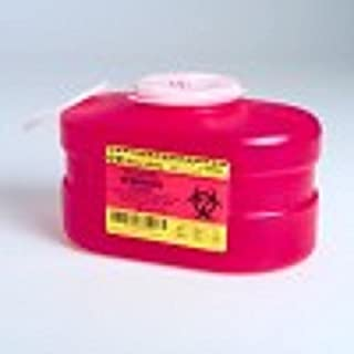 B-D Multi-Use One-Piece Sharps Containers - Regular Funnel Vented Cap, 3.3 Quart - Model 305488
