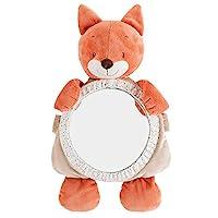 Nattou 后座镜 狐狸 Oscar 带魔术贴 适用于汽车 46 × 26 × 12 厘米 Fanny 和 Oscar 米色/橙色