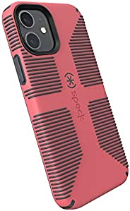 Speck Products CandyShell Pro Grip iPhone 12,iPhone 12 Pro 手机壳,树莓之吻红色/石板灰