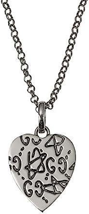 [古馳] GUCCI 〔古馳寶石〕 銀色 心形 項鏈 455540-J8400