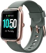 YAMAY 男式智能手表,健身追踪器手表心率监测仪 IP68 防水数字手表,带*追踪器通话信息提醒,智能手表兼容 iPhone Android 手机