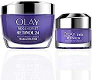 OLAY Regenerist Favourites 套装,视黄醇 24 晚霜保湿霜和眼部保湿霜,含视黄醇和维生素 B3
