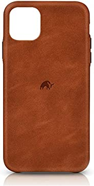 iPhone 11 Bullstrap 皮革保护套 | 优质 Sienna 棕色皮革