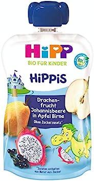 Hipp 喜宝 儿童果泥 火龙果/蓝莓/苹果/梨味,纯Bio果泥/不含添加糖,挤压式软袋(6 x 100g)