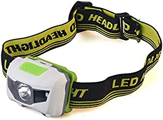 LED 头灯电池供电 LED 户外手电筒白色大灯带红灯/闪光灯 适用于狩猎露营徒步钓鱼狗散步儿童之一(2 盎司)3 节 AAA 电池不包含在供货范围内