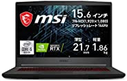 MSI NVIDIA 搭载*新RTX3060 游戏笔记本电脑 GF65 1.86Kg i5 RTX3060/15.6FHD/144Hz/16GB/512GB/GF65-10UE-063JP