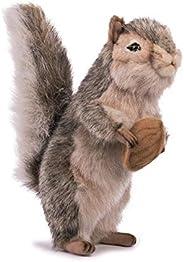 Hansa 松鼠毛绒玩具,8 英寸,灰色
