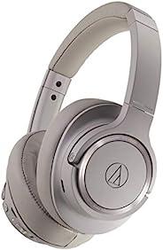 Audio-Technica 铁三角 ATH-SR50BT 头戴式蓝牙无线耳机,棕灰色