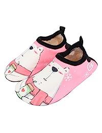 Joah Store 男孩女孩可爱动物舒适室内拖鞋保暖鞋