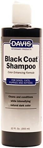 Davis BCS12 黑色外套宠物洗发水,12 盎司