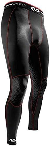 McDavid Mtek2 Recovery Tights, 3X-Large, Scarlet/Black