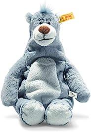 Steiff Balu 丛林书柔软可爱的朋友迪士尼原装 Balu-31 厘米-毛绒玩具,适合儿童-柔软-可水洗-蓝色灰色(024542)