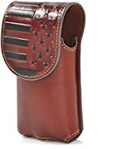 Montana West 真皮手机皮套皮带,非常适合携带 iPhone / 三星所有型号手机磁性翻盖封口手机壳 MWUSA-RLP-013BR