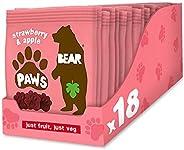 Bear Fruit Paws Dino 草莓+苹果味 果丹皮 20 g (18包)