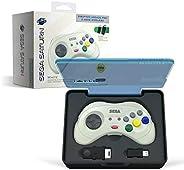 retro-bit SEGA Saturn® 8键 Arcade Pad 2.4GHz 无线控制器 白色 SEGA Saturn® 8-Button Arcade Pad
