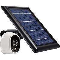 Wasserstein 太阳能电池板 带内置电池 仅兼容 Arlo HD - 连续为您的 Arlo 监控摄像头供电(黑色)(不包括外置电池)