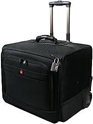 Port Design XL Bristol 便携式旅行商务笔记本电脑手推车包适用于审计员机/Windows/Apple/iPad 和 Samsung 平板电脑