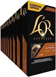 L'OR Lungo Estremo 咖啡胶囊,10 个 Nespresso 兼容胶囊,1 x 10