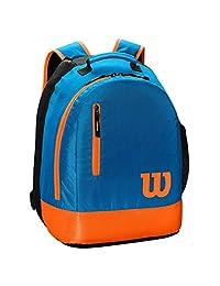 Wilson 威尔胜 中性款青少年背包网球包,蓝色/橙色,2 个球拍