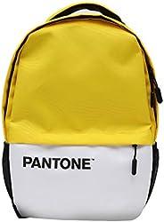 Pantone 经典笔记本电脑背包 Blue Beat Digital 耐用防水书包 带 USB 充电端口 多功能行李包 适用于工作/学院/学校/旅行 [柠檬黄]