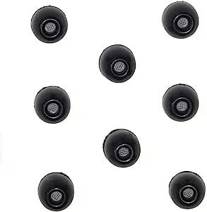 8 包 - Large SHURE EABKF1-10L (PA910L) 替换黑色泡沫耳塞套适合 SHURE SE110 SE115 SE210 SE215 SE310 SE315 SE420 SE425 SE530 SE535 E3c E3g E4c E4g E5c 和 Westone 隔音入耳式耳机