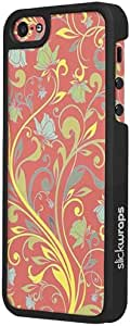 Slickwraps Designer Series the Case for iPhone 5 & 5s - Floral - Carrying Case - Retail Packaging - Floral