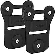 BOBLOV 通用磁性吸盘背夹包含内外磁铁,强力吸盘,黑色硅胶制成,可粘在衣服上,适用于通用的全品牌身体相机