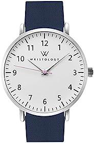 WRISTOLOGY Olivia 女士数字手表 – 适用于*的大脸模拟易于读取的秒针硅胶表带