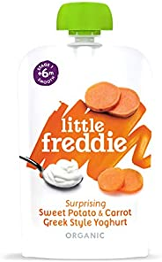 Little Freddie Organic Baby Food - Sweet Potato & Carrot Greek Style Yoghurt Pouch (Pack of 6x1