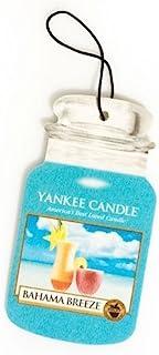 Yankee Candle 汽车罐经典纸板汽车,家庭和办公室悬挂空气清新剂,Bahama Breeze Scent 蓝色 Car Jar Single Packs FBA_1207567-YC