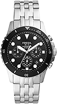 Fossil 手表 FB-01 CHRONO FS5837 男士 银色