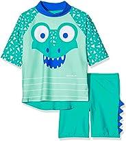 Speedo 儿童 Corey Croc 中性游泳套装 上衣和短裤