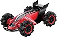 Lexibook RC60 Crosslander Fire RC 汽车,带蒸汽和运动,灯光效果,音乐,遥控器,可充电,电子动作游戏,红色 / 黑色