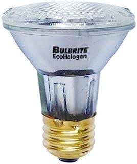 Bulbrite H39PAR20FL3/ECO 39 瓦生态卤素灯 PAR20,相当于 50W 卤素灯,中号 (E26) 底座,130V,泛光