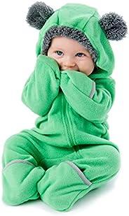 Cuddle Club 抓绒婴儿睡袋连体衣适合新生儿至 4T - 婴儿睡衣冬季夹克外套幼儿服装 Bear - Green 2T