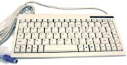 ACK-595 PS/2 迷你键盘,适用于 Windows (白色)
