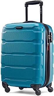 Samsonite 新秀丽 Omni Pc Hardside 可扩展行李箱,带万向轮,Caribbean Blue,Carry-On 20-Inch